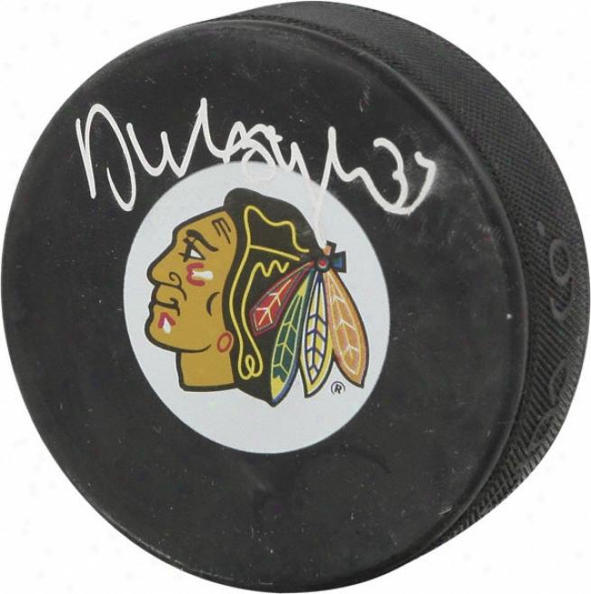 Dustin Byfuglien Chicago Blackhawks Autographed Puck