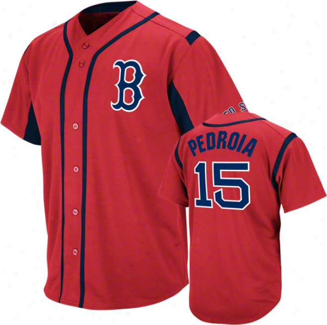 Dustin Pedroia Boston Red Sox Wind-up Red Player Jersey