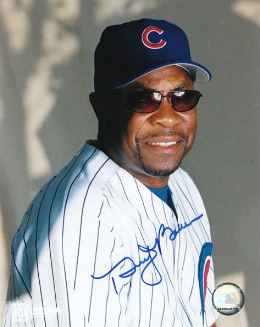 Dusty Baker Chicago Cubs Autographed 8x10 Photo