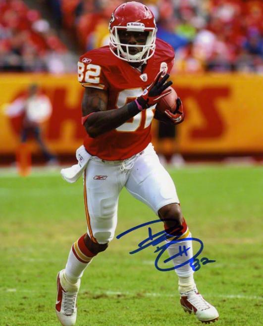 Dwayne Bowe Autographed 8x10 Photograph  Details: Kansas City Chiefs