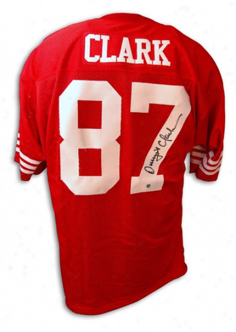Dwight Clark Autographed Throwback Jersey