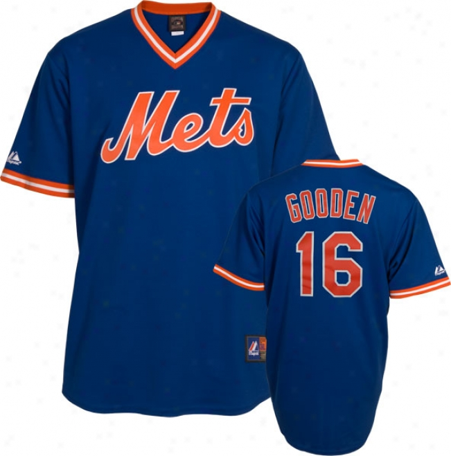 Dwight Gooden New York Mest Royal Cooperstown Replica Jersey