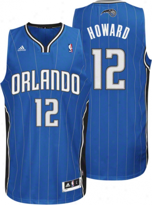 Dwight Howard Jersey: Adidas Revolution 30 Blue Swingman #12 Orlando Magic Jersey