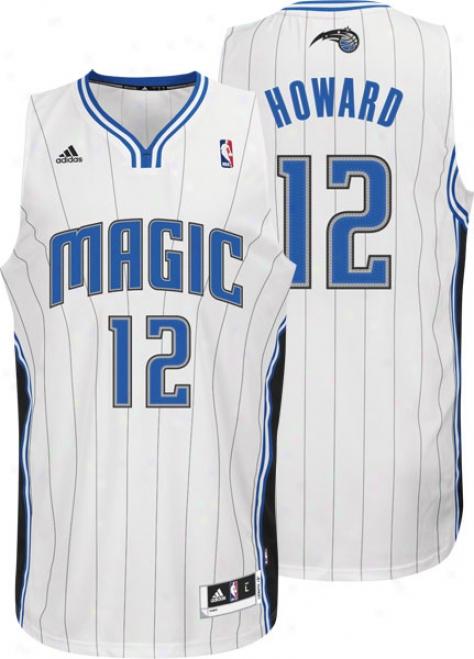 Dwight Howard Jersey: Adidas Revolution 30 White Swingman #12 Orlando Magic Jersey