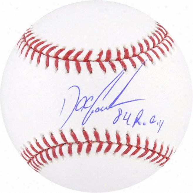 Dwight &quotdoc&quor Gooden Autographed Baseball  Details: 84 Roy Isncription