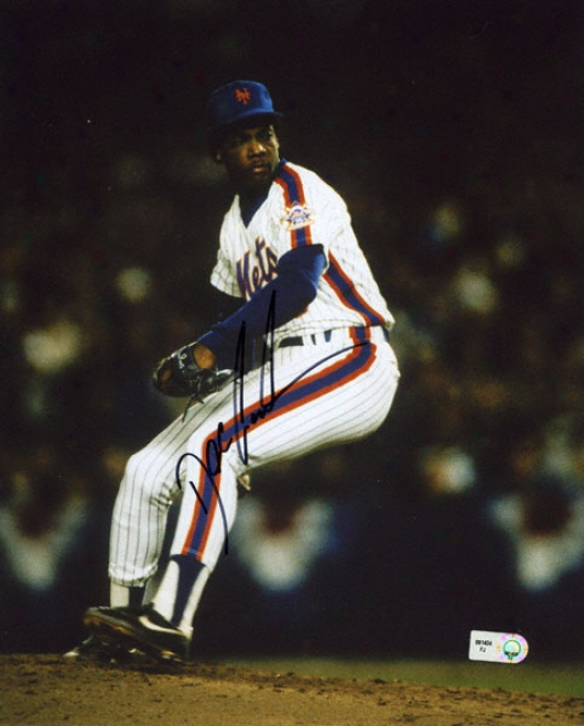 Dwight &quotdoc&quot Gooden New York Mets - On The Mpund - Autographed 8x10 Photograph