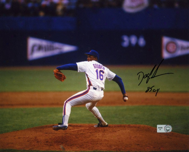 Dwight &quotdoc&quot Gooden New York Mets - Pitching - Autographed 8x10 Photograph With 85 Cy Inscription