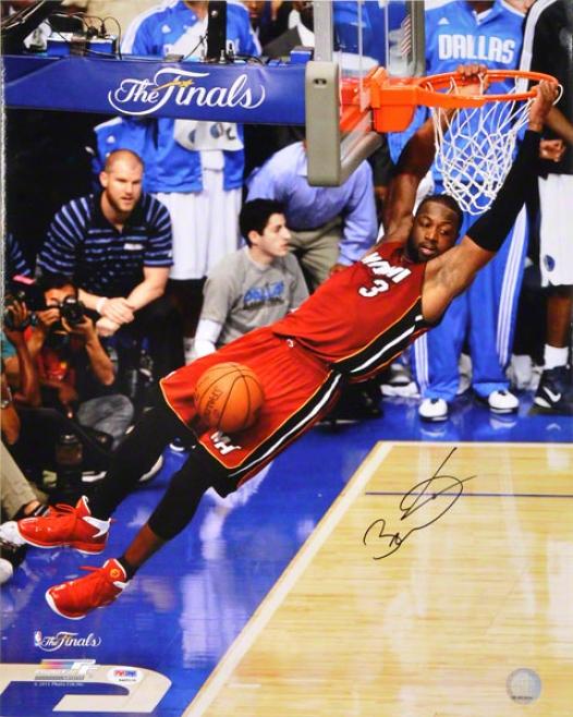 Dwyane Wade Autographed 16x20 Photograph  Details: Miami Heat, 2011 Finals