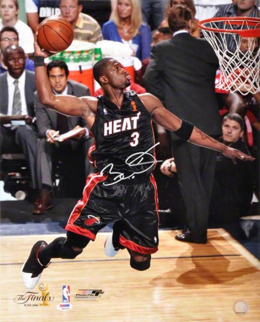 Dwyane Wade Autographed 16x20 Photograph  Details: Miami Heat, 2006 Finals