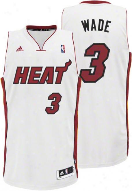 Dwyane Wade Pale Adidas Revolution 30 Swingman Miaami Heat Jersey