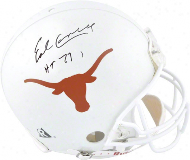 Earl Campbell Autographed Pro-line Helmet  Details: Texas Longhorns, Authentic Riddell Helm, Heisman Trophy 77 Inscription