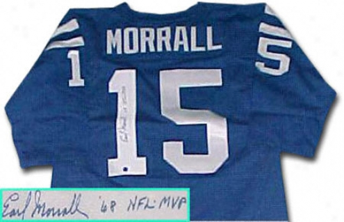Earl Morrall Baltimore Colts Autographed Throwback Jersey