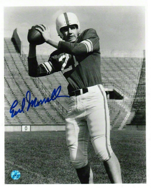 Earl Morrall Michigan State Spartans Autographed 8x10 Photo