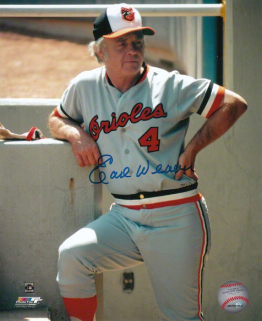 Earl Weaver Baltimore Orioles - Coaching - Autographed 8x10 Photograph