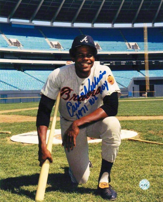 Earl Williams Autographed Atlanta Braves 8x10 Photo Inscribed &quot1971 No Roy&quot