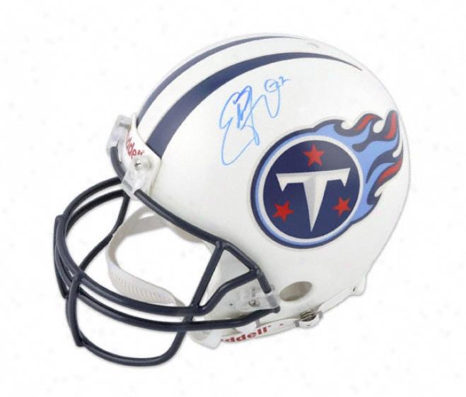 Eddie George Autographed Helmet  Dwtails: Tennessee Titans