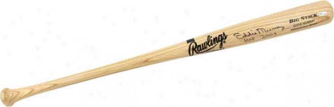Eddie Murray Autographed Bat  Details: Black, Bi Stick, Name Engraved, Hof 2003 Inscription