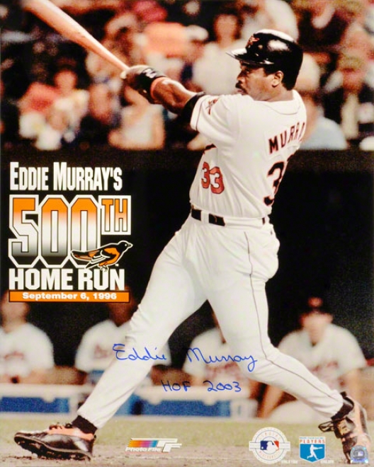 Eddie Murray Baltimore Orioles 500th Close Run 16x20 Autographed Photograph