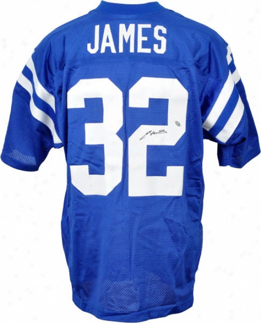 Edgerrin James Autographed Jersey  Details: Indianapolis Colts, Home