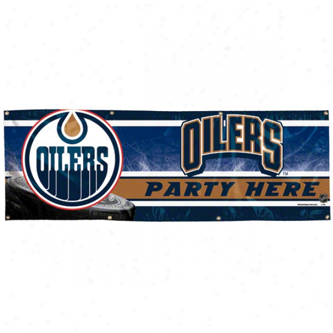 Edmonton Oilers 2x6 Vinyl Banner