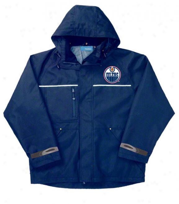 Edmonton Oilers Jacket: Blue Reebok Yukon Jacket