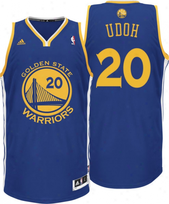 Ekpe Udoh Jersey: Adidas Revolution 30 #20 Golden State Warriors Swingman Nba Jersey