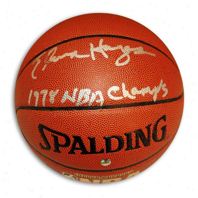 Elvin Hayes Autographed Indoor/outdoor Basketball Inscribed 1978 Nba Champs