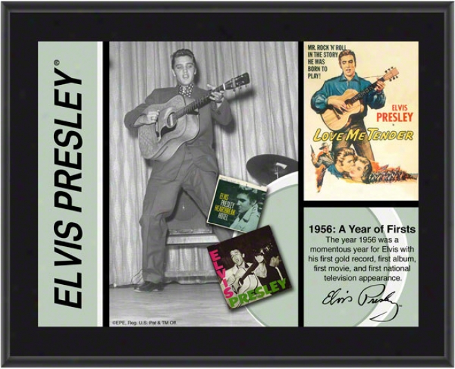 Elvis Presley - 1956 - Sublimated 10x13 Plaque