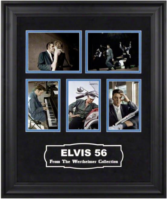 "Elvis Presley Ã'âÃ¢â'¬å""elvis â€ëœ56ã¢â'¬? Framed oClorized Photos From The Wertheimer Collection"