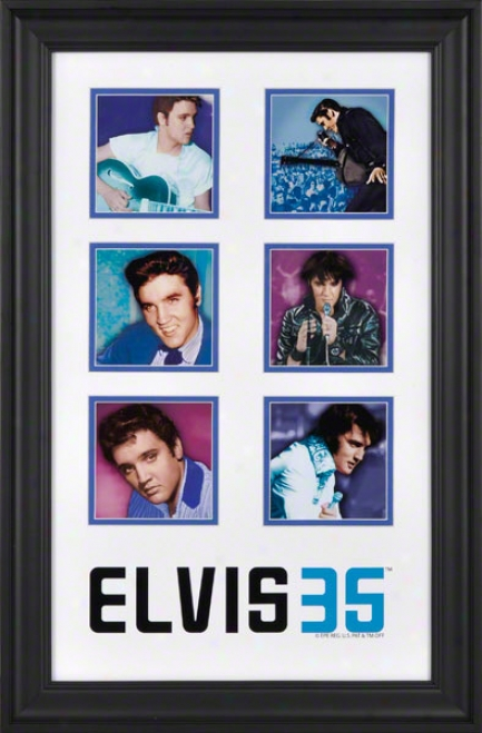 Elvis Presley Framed Collage  Details: 35th Aniversary, Limited Edition Of 2012