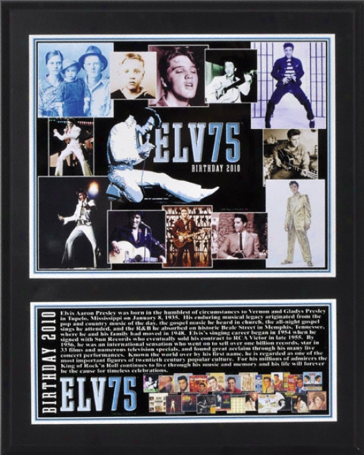 Elvis Presley Sublimated 12x15 Plaque Details: 75th Birthday