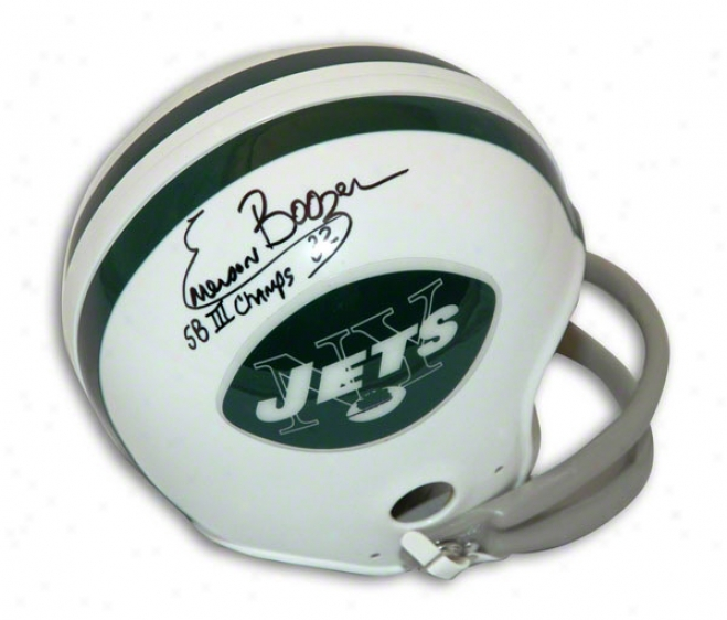 Emerson Boozer Autographed Throwback Mini Helmet Inscribed Sb Iii Chanps