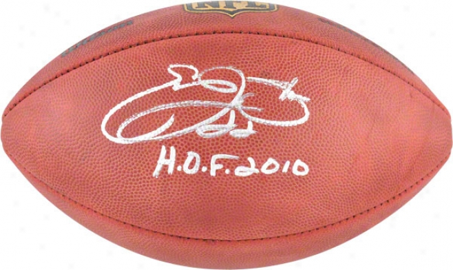 Emmitt Smith Autographed Football  Particulars: Hof '10 Inscription