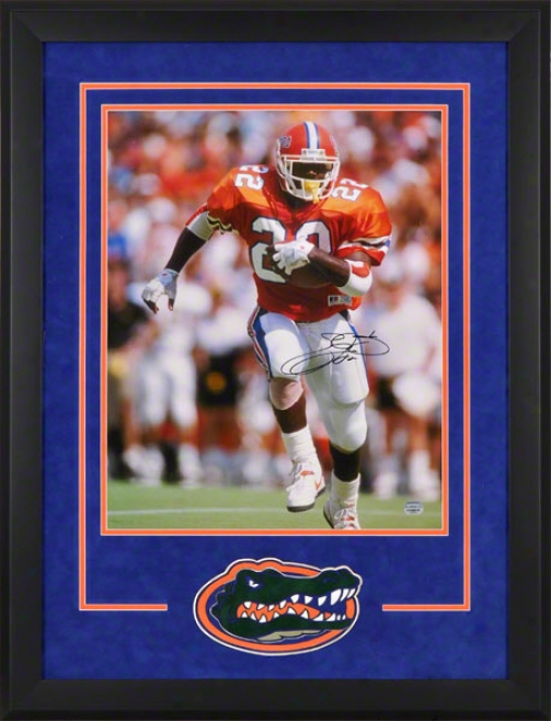 Emmitt Forge Autographed Framed 16x20 Autographed Photpgrzph  Details: Florida Gators, &quotrunniing&quot