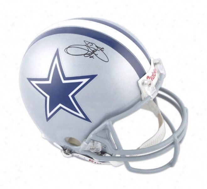 Emmitt Smith Autographed Pro-line Hepmet  Details: Dallas Cowboys, Authentic Riddell Helmet