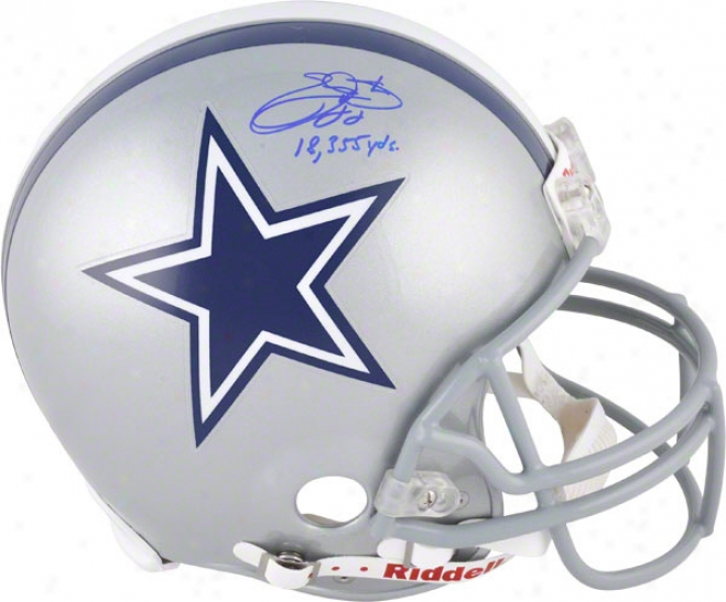 Emmitt Smith Autographed Pro-line Helmet  Details: Dallas Cowboys, Authentic Riddell Helmet, 18355 Yds Inscription