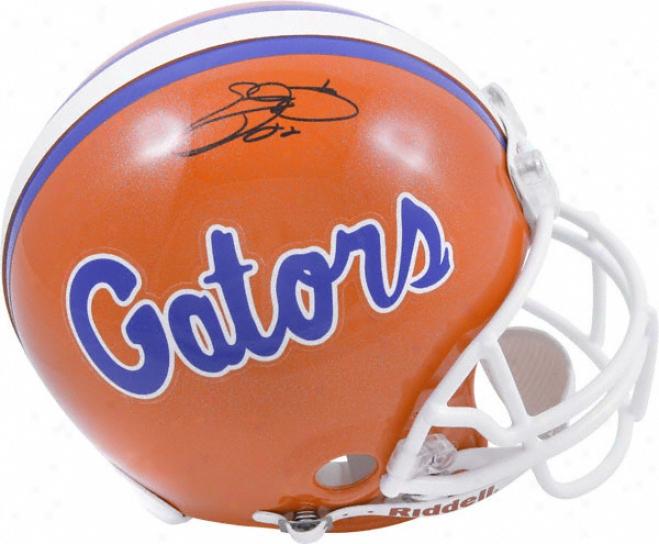 Emmitt Smith Autographed Pro-line Helmet  Details: Floridq Gators, Authentic Riddell Helmet, Inscription