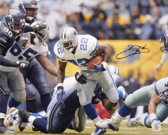 Emmitt Smith Dallas Cowboys -record Brraker- 16x20 Autographed Photograph