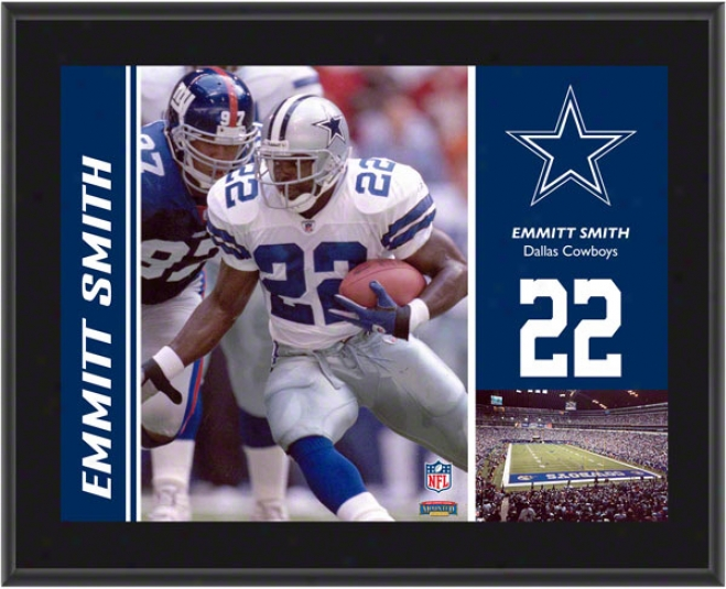 Emmitt Smith Plaque  Details: Dallas Cowbooys, Sublimated, 10x13, Nfl Plaque
