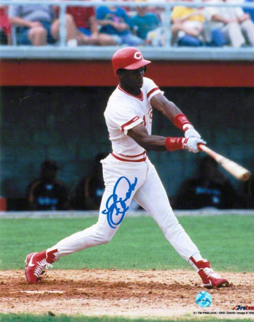 Eric Davis Cincinnati Reds Autographed 8x10 Photo Swing
