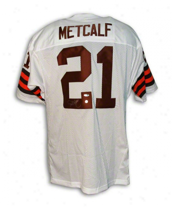 Eric Metcalf Autographed Cleveland Browns Throwback Jersey