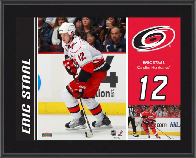 Eric Staal Brooch  Details: Carolina Hurricanes, Sublimated, 10x13, Nhl Plaque