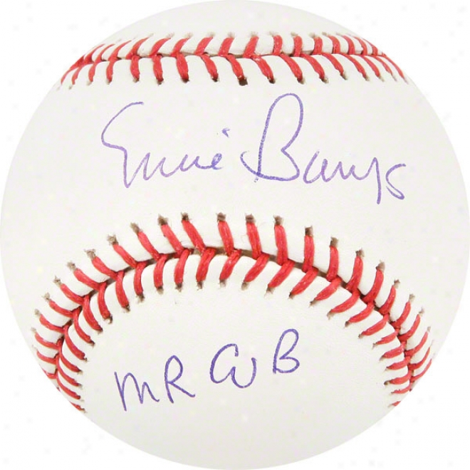 Ernie Banks Chicago Cubs Autographed Baseball W/ Inscription &quotmr. Cub&quot