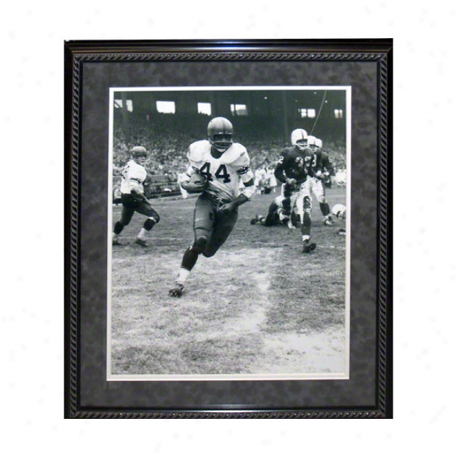 Ernie Davis Syracuse Orange Framed 16x20 Black And White Photo