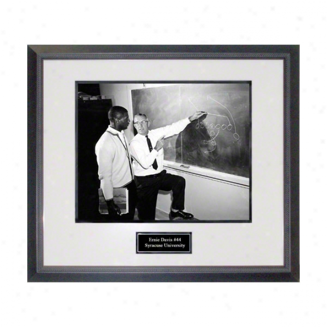 Ernie Davis Syracuse Orange Framed 16x20 Over Engage in Photo