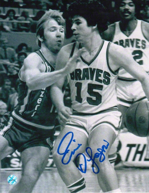 Ernie Digregorio Driving Vs Trail Blazers Buffalo Braves Autographed 8x10 Photo