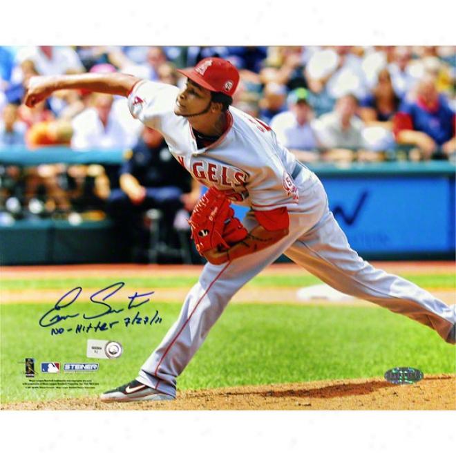 Ervin Santana Los Angeles Angels Of Anaheim 8x10 No Hitter Autographed Photograph