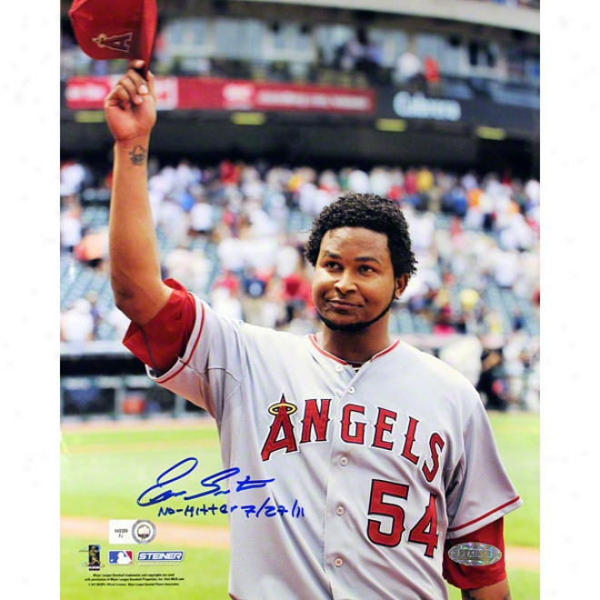 Ervin Santana Los Angeles Angels Of Anaheim 8x10 Salute To The Crowd Autographed Photograph