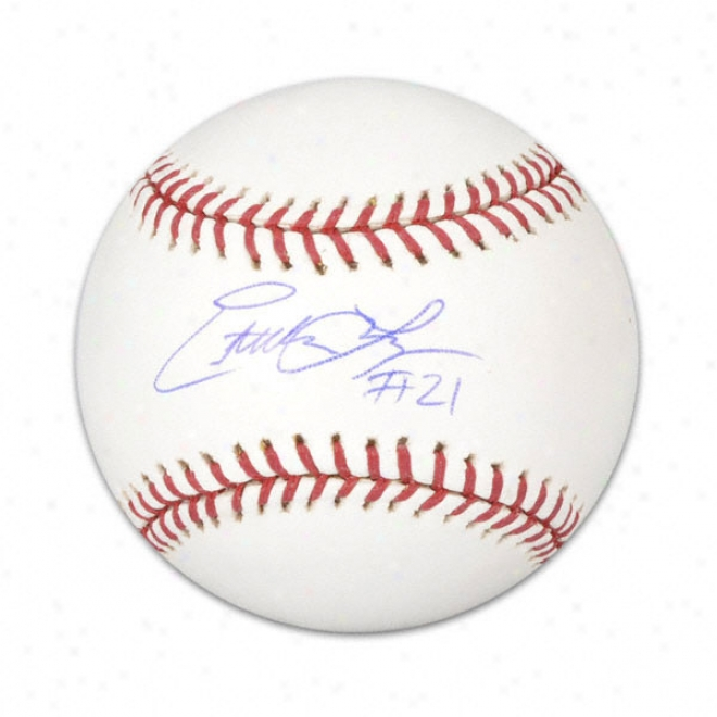 Estebwn Loaiza Autographed Baseball