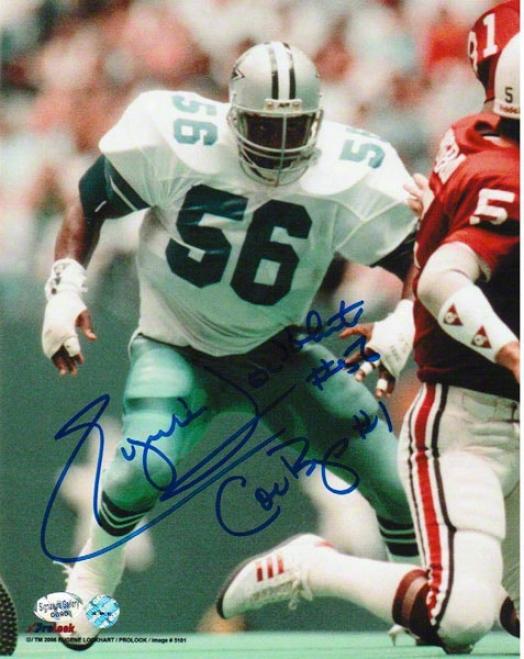 Eugene &quotthe Hiting Machine&quot Lockhart Dallas Cowboys Autographed 8x10 Photo Vs Cardinals